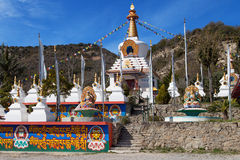 Buddhist Temple of Dag Shang Kagyu. In Panillo, Aragon, Spain Stock Photo