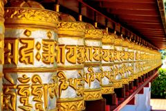 Buddhist temple Dag Shang KagyuDag royalty free stock photography