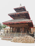 Buddhist temple damaged by earthquake at Durbar Square, Kathmandu Stock Image