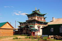 Buddhist Temple Datsan, Ivolginsk, Russia Stock Images