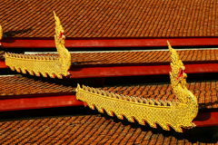 Buddhist temple details in Chiang Mai Stock Image