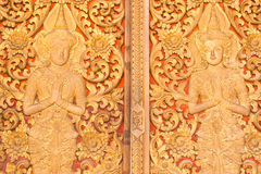 BUDDHIST TEMPLE DOOR Stock Photos