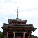 Buddhist temple in eastern Kyoto. The top of Kiyomizu-dera Temple in Kyoto, Japan Stock Images