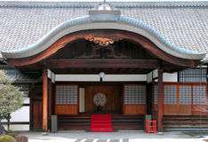 Buddhist temple entrance stock image