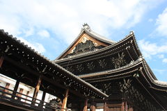 Buddhist Temple Entrance in Japan Royalty Free Stock Image
