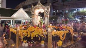 Buddhist temple Erawan Shrine stock footage