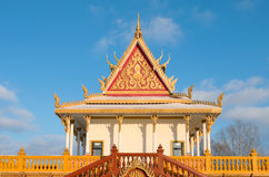 Buddhist Temple Exterior and Spire Royalty Free Stock Images