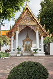 Buddhist temple front view in Wat Pho, Bangkok Royalty Free Stock Photo