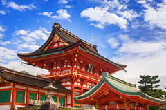 Buddhist temple at Fushimi Inari Shrine in Kyoto Stock Image