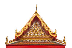 Buddhist temple gable with apex Royalty Free Stock Images