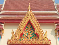 Buddhist temple gable with apex Stock Photo