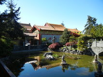 Buddhist Temple and Garden Royalty Free Stock Images