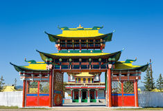 Buddhist temple gate Stock Photos
