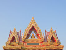Buddhist temple gate gables Royalty Free Stock Images