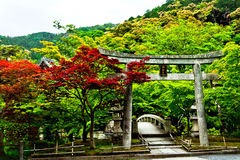 Buddhist Temple gate in Japan Royalty Free Stock Photography
