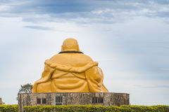 Buddhist temple with giant Buddha statue in Foz do iguacu Royalty Free Stock Photography