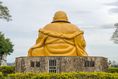 Buddhist temple with giant Buddha statue in Foz do iguacu. The Buddhist temple with giant Buddha statue in the garden at Foz do iguacu, Brazil Stock Image