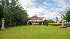Buddhist temple with giant Buddha statue in Foz do iguacu Stock Images