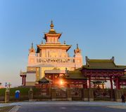 Buddhist temple Golden Abode of Buddha Shakyamuni in Elista, Republic of Kalmykia, Russia.  royalty free stock photography