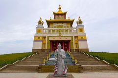 Buddhist temple Golden Abode of Buddha Shakyamuni in Elista, Republic of Kalmykia, Russia.  royalty free stock photos