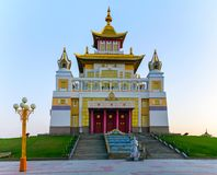 Buddhist temple Golden Abode of Buddha Shakyamuni in Elista, Republic of Kalmykia, Russia.  stock photos