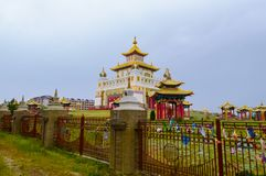 Buddhist temple Golden Abode of Buddha Shakyamuni in Elista, Republic of Kalmykia, Russia.  royalty free stock image