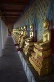 Buddhist Temple Golden Buddhas Bangkok Thailand Stock Photography