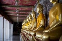 Buddhist Temple Golden Buddhas Bangkok Thailand Royalty Free Stock Photo