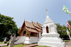 Buddhist temple with golden ornaments Royalty Free Stock Photography