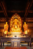 Buddhist Temple. Golden statue of Buddha Royalty Free Stock Photo
