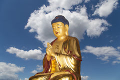 Buddhist Temple. Golden statue of Buddha-- southern Xian Stock Photos
