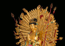 Buddhist Temple. Golden statue of Buddha-- southern Xian Royalty Free Stock Photos