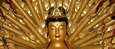 Buddhist Temple. Golden statue of Buddha-- southern Xian Royalty Free Stock Photo
