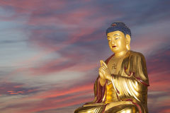 Buddhist Temple. Golden statue of Buddha-- southern Xian Royalty Free Stock Image