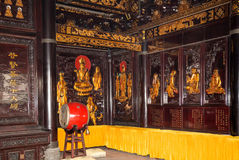 Buddhist Temple. Golden statue of Buddha-- southern Xian Stock Photo