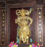 Buddhist Temple. Golden statue of Buddha--  Xian (Sian, Xi'an), China Stock Image