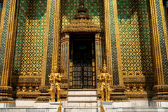 Buddhist temple in grand palace bangkok thailand. Buddhist temple detail in grand palace bangkok thailand Stock Photography