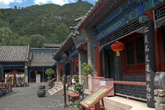 Buddhist temple at the Great Wall, Juyongguan, China Royalty Free Stock Photo