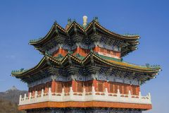 Buddhist temple at the Heavenly Mountain. Stock Image