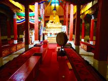 Buddhist temple at Hemis Monastery Royalty Free Stock Images