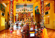 Buddhist temple inside Royalty Free Stock Photography