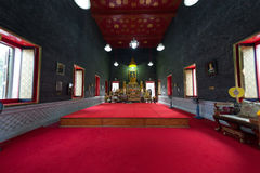 Buddhist temple interior Royalty Free Stock Photos