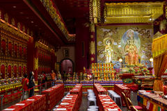 Buddhist temple interior Stock Photography