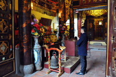 Buddhist temple interior in Hanoi, Vietnam Royalty Free Stock Images