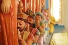 Buddhist temple. Interior of the Buddhist temple in Sri Lanka Stock Photos