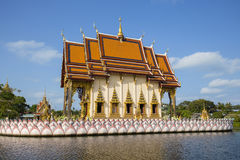 Buddhist temple in island koh Samui, Thailand. Royalty Free Stock Photography