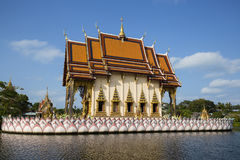 Buddhist temple in island koh Samui, Thailand. Royalty Free Stock Image