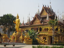 Buddhist temple in Jinghong, Xishuangbanna Stock Photos