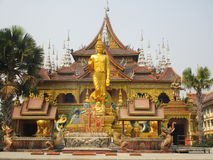 Buddhist temple in Jinghong, Xishuangbanna Royalty Free Stock Images