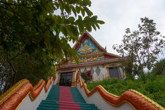 Buddhist temple in the jungle Stock Photography